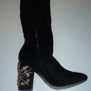 NIB Shoe Dazzle Adorned  Knee high boot Sz 8.5